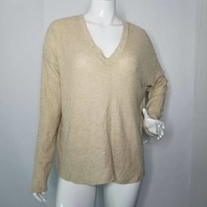 PST Waffle Knit Pullover Flowy Sweater Size XL